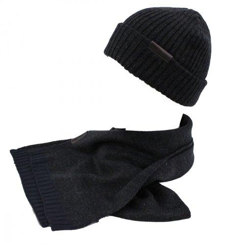 Set sciarpa e cappello uomo 100% ACRILICO in box GIAN MARCO VENTURI 71800  grigio ecda9c3b4b63