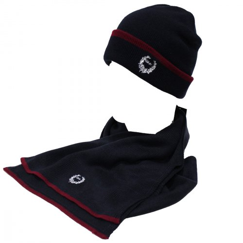 Set sciarpa e cappello uomo 100% ACRILICO in box GIAN MARCO VENTURI 71763  blu 2a53a92675b1
