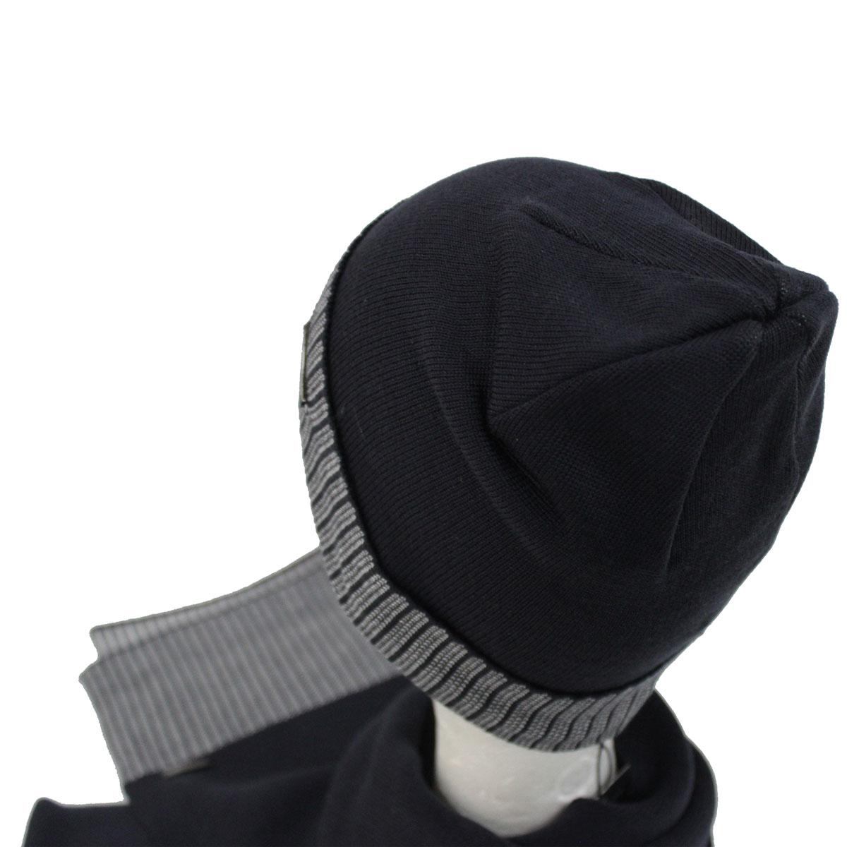 Set sciarpa e cappello uomo 100% ACRILICO in box GIAN MARCO VENTURI 71805  navy Colore ... b59ce9777366