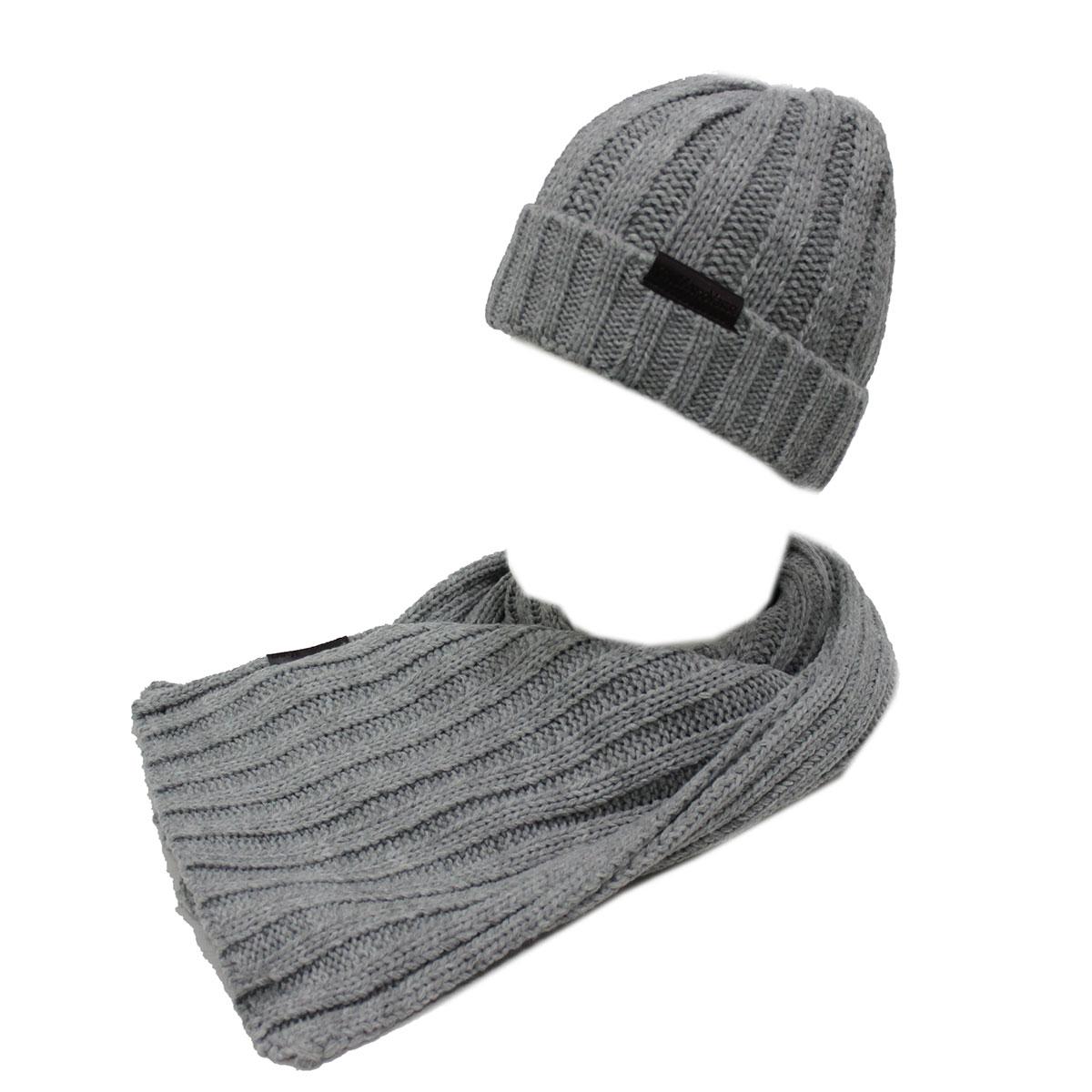 Set sciarpa e cappello uomo 100% ACRILICO in box GIAN MARCO VENTURI 71778  grigio 1f3bc36cdf30