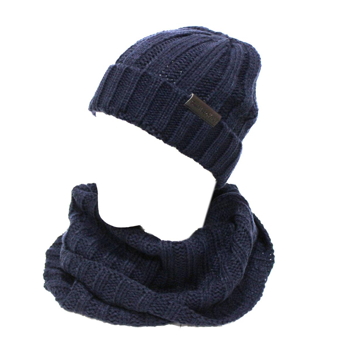 Set sciarpa e cappello uomo 100/% ACRILICO in box GIAN MARCO VENTURI 71774 grigio