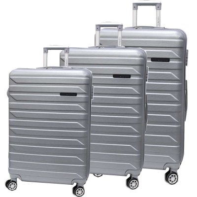 Set trolley abs 3 pz Coveri Collection 8081-3 silver