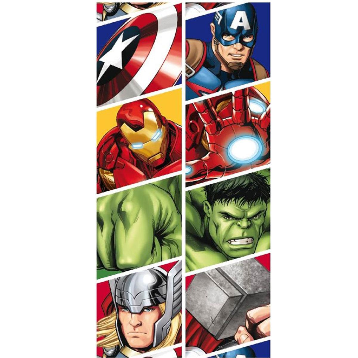 Telo da Mare per Bambini in Micro Poliestere 140 x 70 cm Marvel Avengers